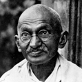 Gandhi (1869-1948), philosophe et homme politique indien. © crédits photos Albert Harlingue / Roger-Viollet